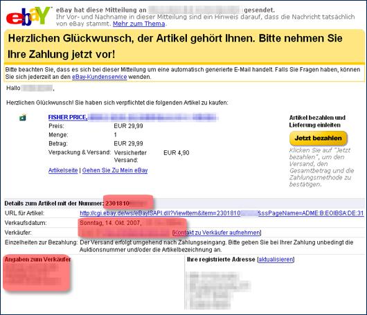 ebay e mail kontakt
