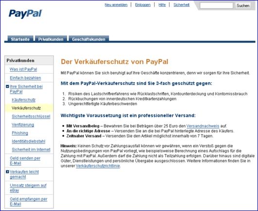 Paypal Gefahren